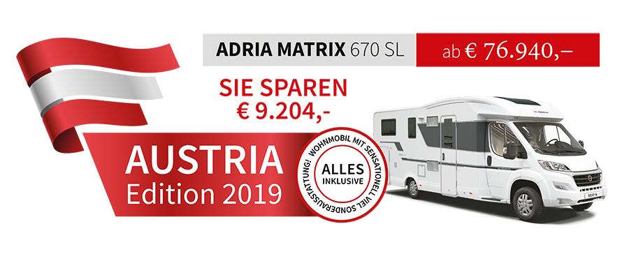 Adria Matrix Plus 670 SL mit Hubbett